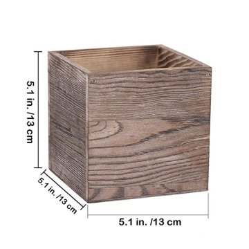 Custom storage gift square packaging wooden box without cover